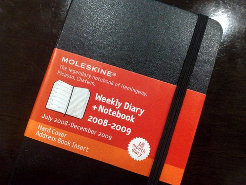 Moleskine Weekly Diary + Notebook 2008-2009