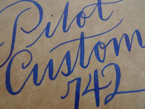 Pilot Custom 742, FA nib, writing sample