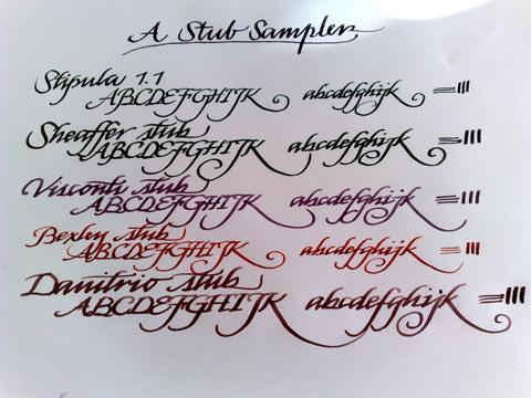 Stubs - writing samples