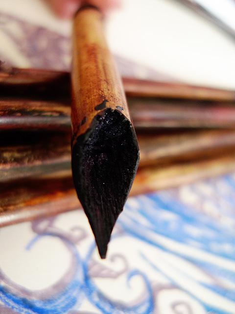 Bamboo pen, fine nib