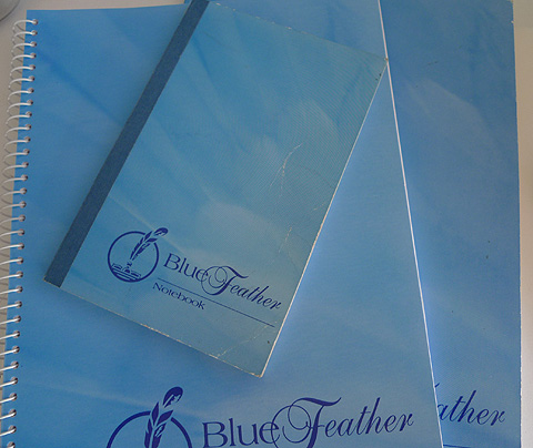 Blue Feather notebooks