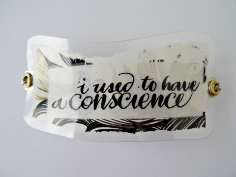 I used to have a conscience Hairclip