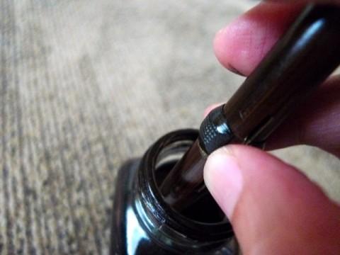Filling the pen