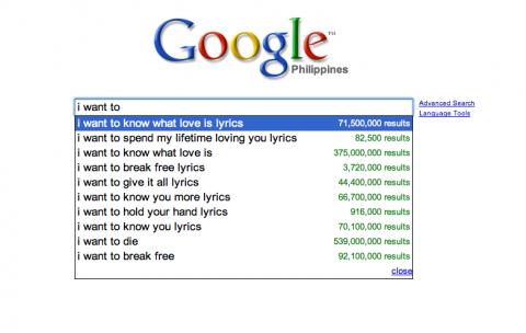 Google: I want to