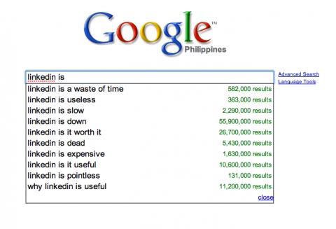 Google: linkedin is