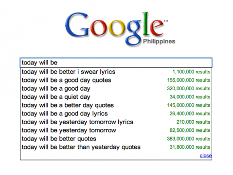Google: today will be
