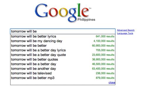Google: tomorrow will be