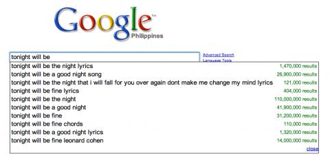 Google: tonight will be