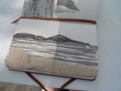 Sand on ink
