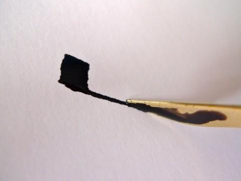 Folded pen stroke