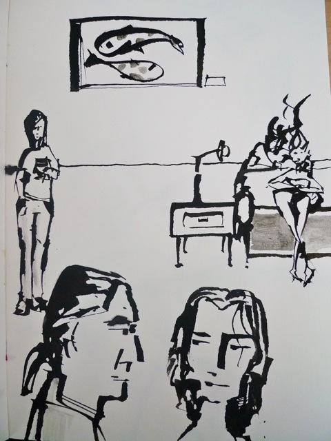 Folded pen doodle 3