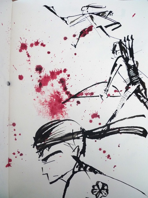 Folded pen doodle 4