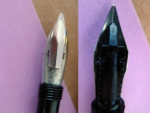 Osmiroid sketch nib front and back