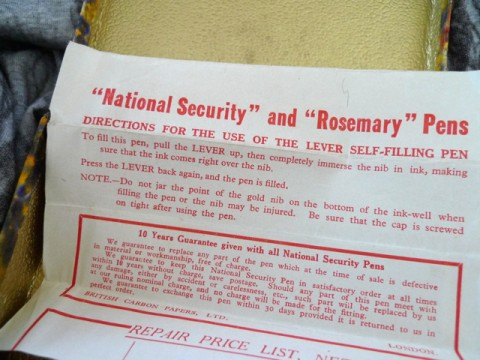 National Security and Rosemary Pen insert