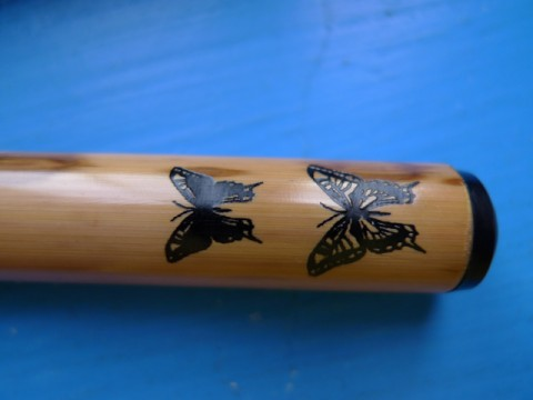Akashiya bamboo brush pen (butterfly)