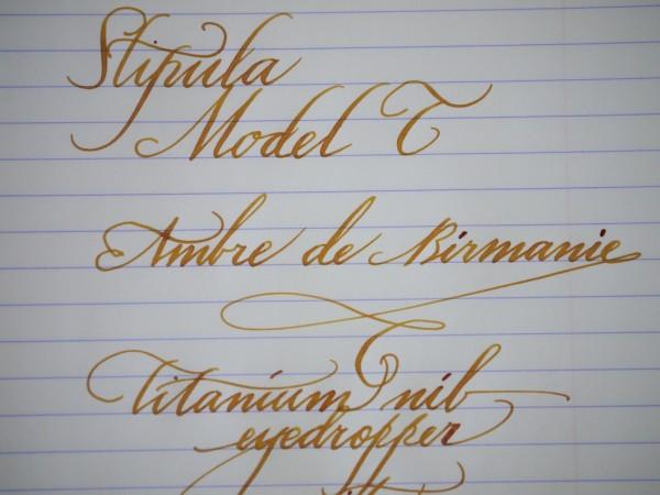 Stipula Model T writing sample