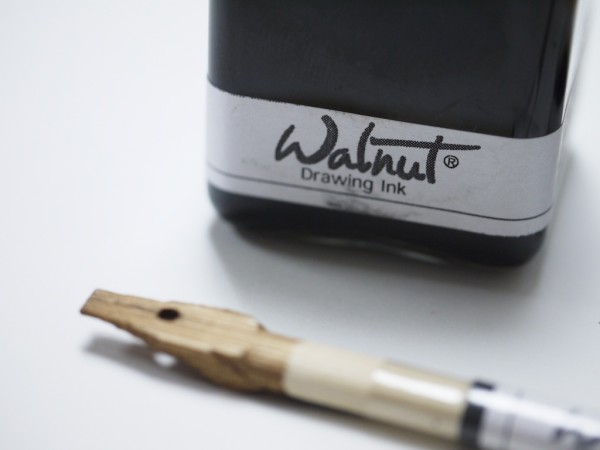 """A naturally derived walnut colored ink"""