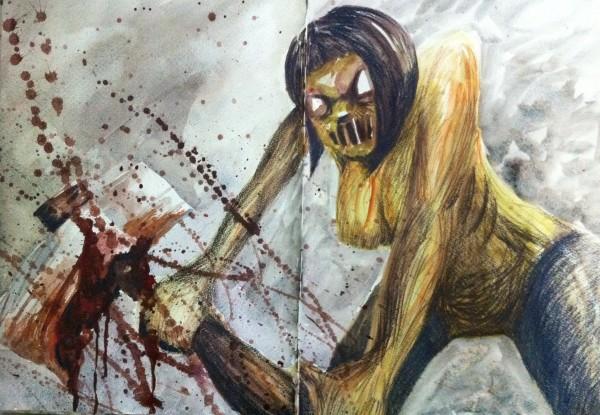 Axe-wielding zombie Leigh