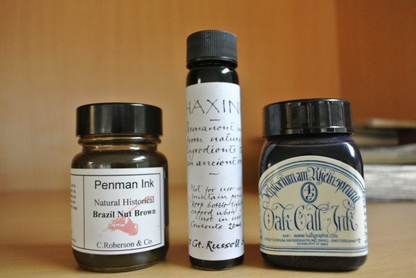 Penman Ink Natural Historical, Haxink Iron Gall, Oak Gall