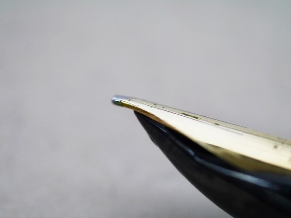 Pilot E music nib, side view