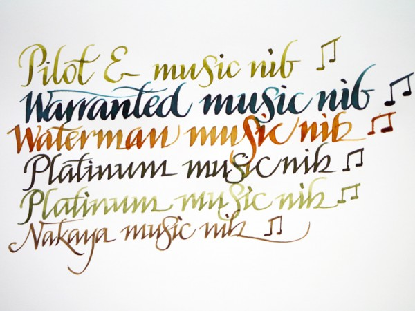 Music nibs writing sample