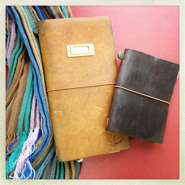 Midori Traveler's Notebook and Midori Traveler's Notebook, passport size