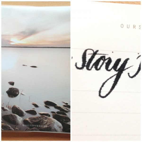 Our Story Begins notebook