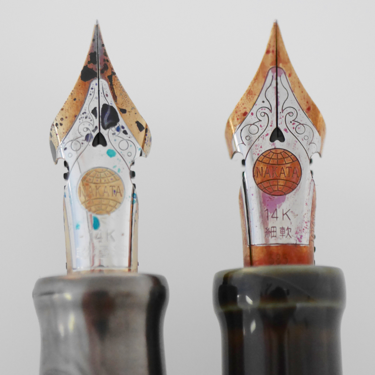 Nakaya's nib design has subtly changed over the years. Note the difference in globe placement ;)