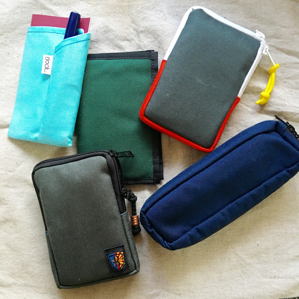 An assortment of Nock Co cases