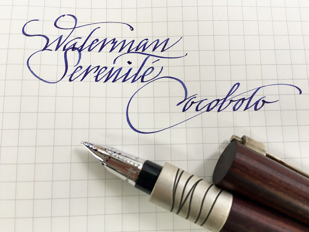 Cursive italic writing sample