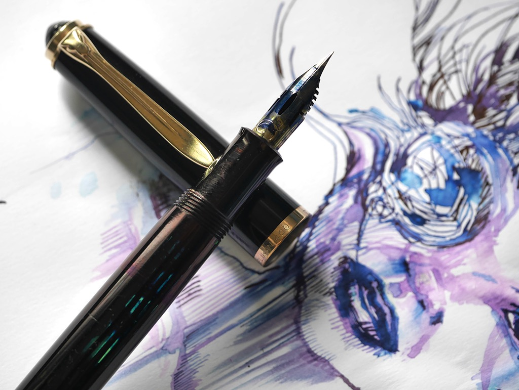 Pelikan M400 fitted with feed for Zebra G nib