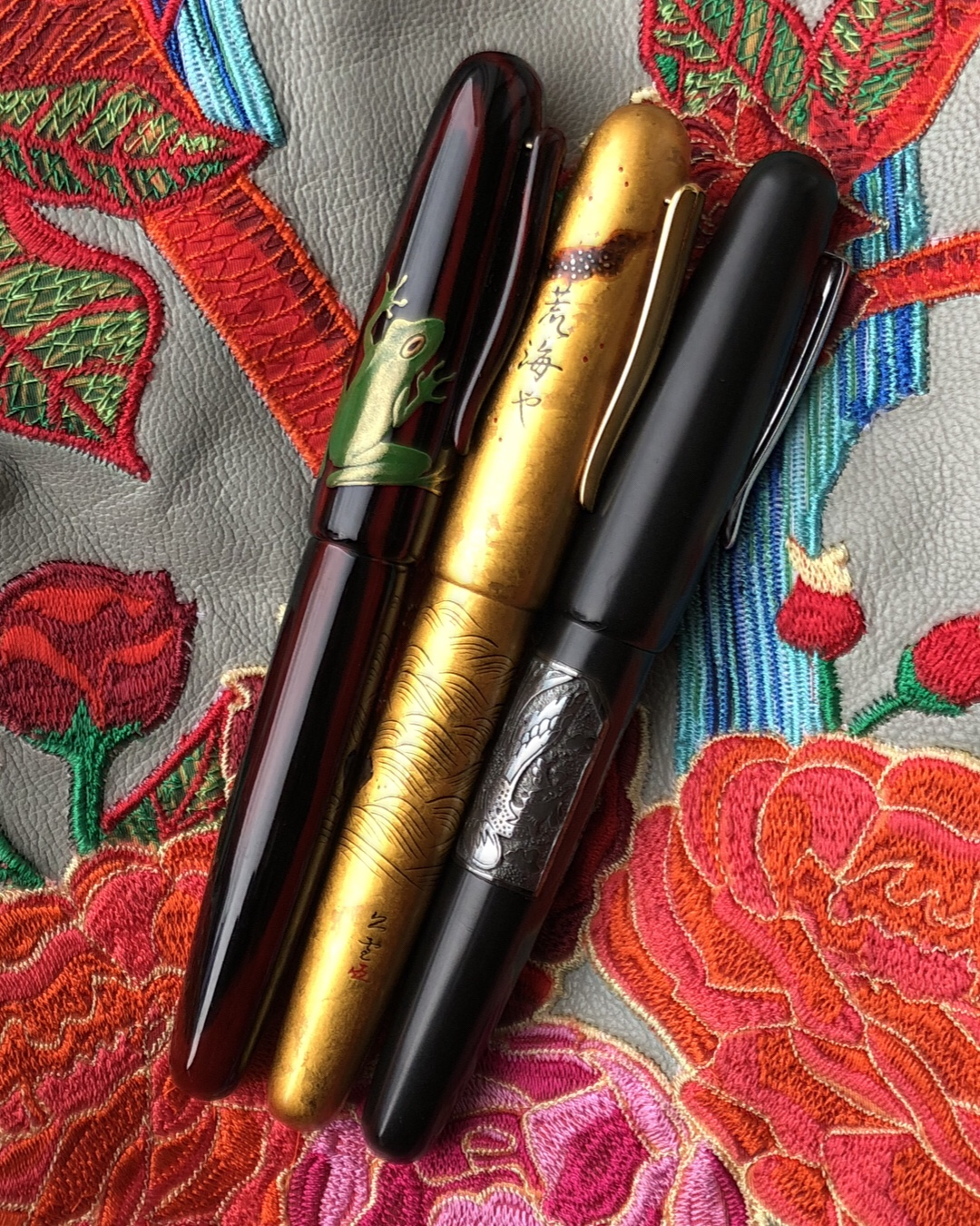 Three Danitrio fountain pens
