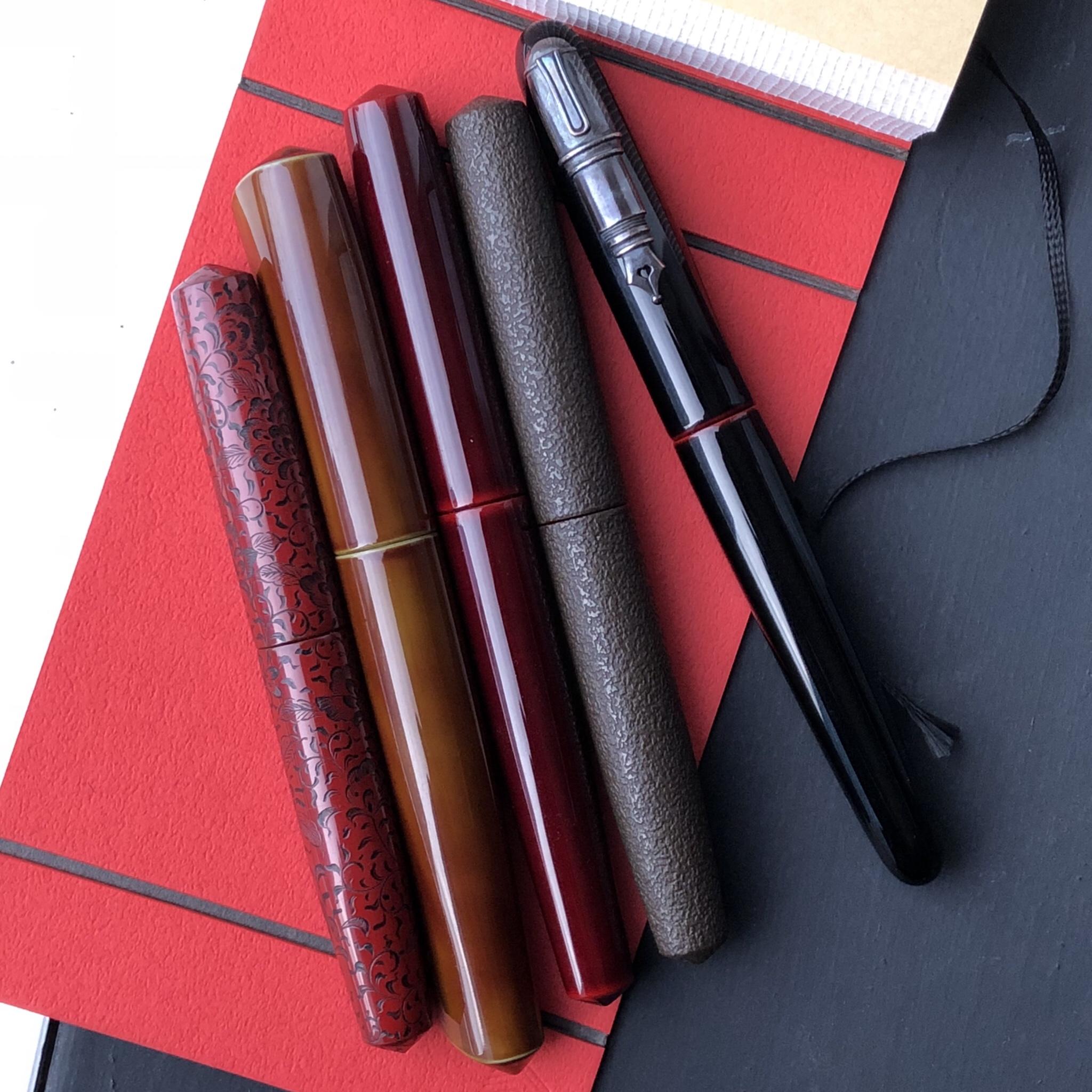 Five Nakaya pens