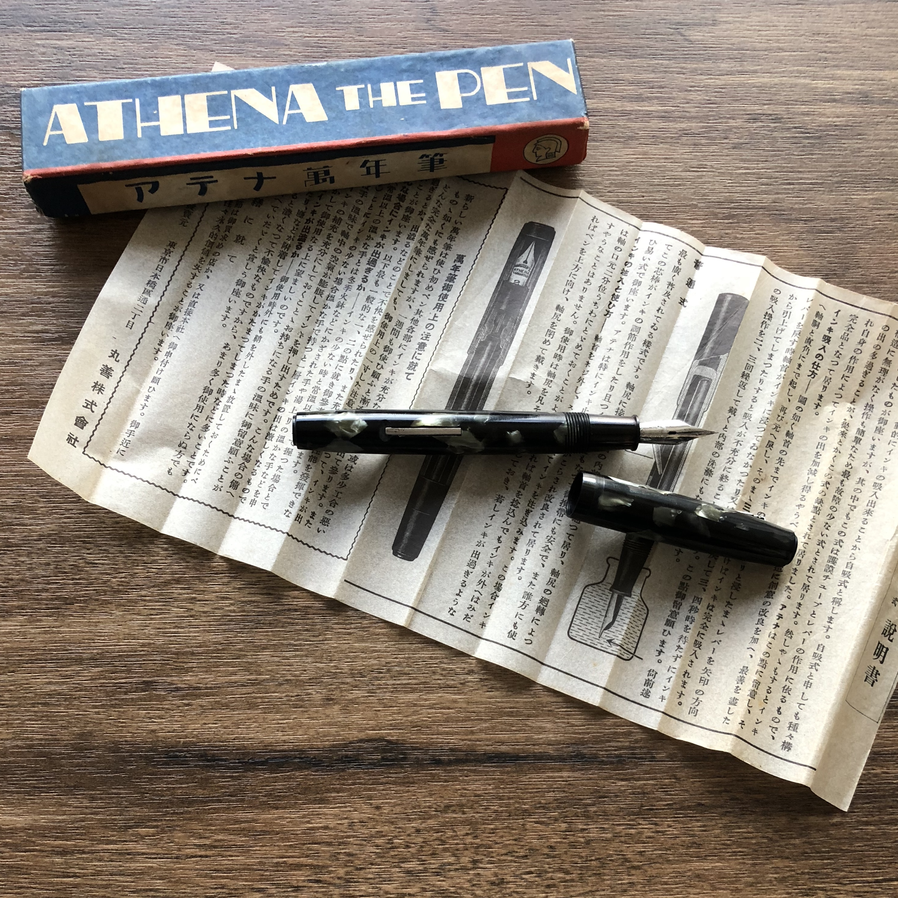 Athena the Pen, with box and insert