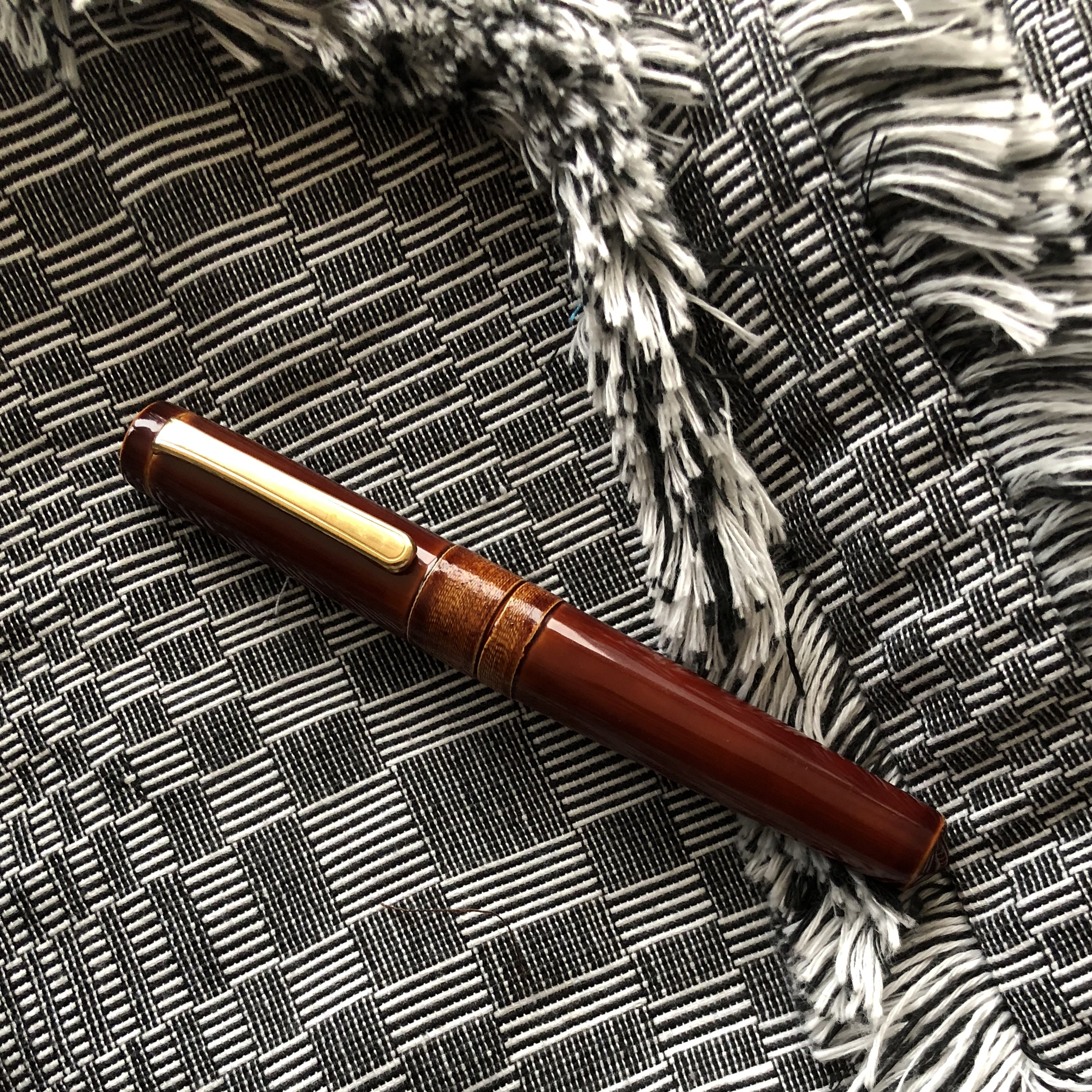 Nakaya Piccolo string-rolled on a binakul jacket from Anthill Fabric Gallery