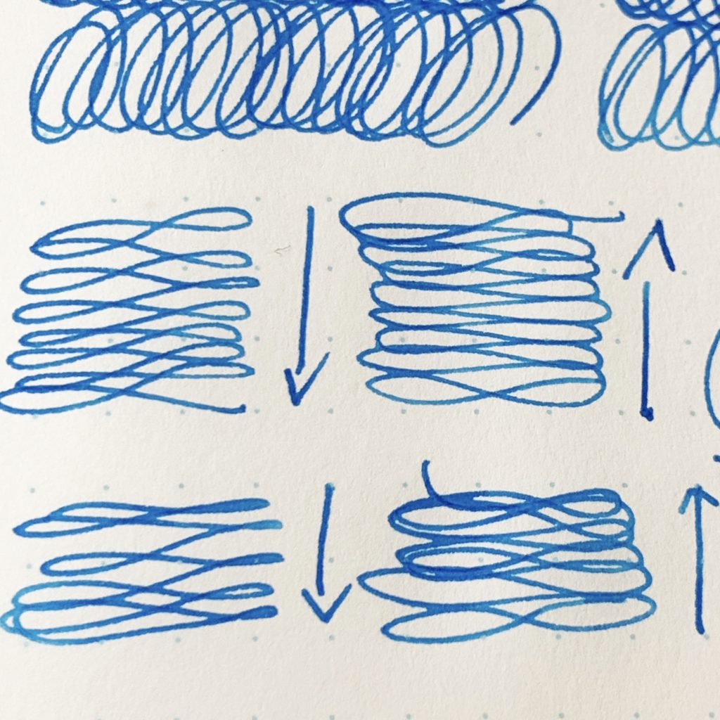 Horizontal figure 8s on paper